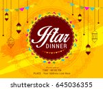 a beautiful invitation card of... | Shutterstock .eps vector #645036355