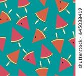 lollipop. watermelon. vector... | Shutterstock .eps vector #645038419