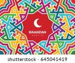 ramadan mubarak beautiful...   Shutterstock .eps vector #645041419