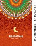 ramadan mubarak beautiful... | Shutterstock .eps vector #645041464