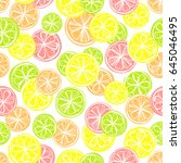 seamless pattern with different ... | Shutterstock .eps vector #645046495