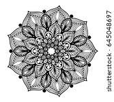 mandalas for coloring book.... | Shutterstock .eps vector #645048697