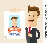 businessman or manager hold a... | Shutterstock .eps vector #645056875