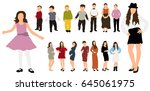 collection people children and... | Shutterstock . vector #645061975