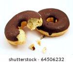 Two Chocolate Doughnuts  One...