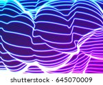 neon lines background with... | Shutterstock .eps vector #645070009