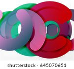 circle geometric abstract... | Shutterstock .eps vector #645070651