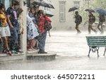 quebec city  canada   july 27 ... | Shutterstock . vector #645072211