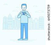 vector illustration in flat... | Shutterstock .eps vector #645073759