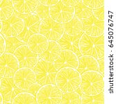 seamless pattern with fresh... | Shutterstock .eps vector #645076747