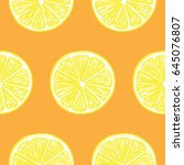seamless pattern with fresh... | Shutterstock .eps vector #645076807