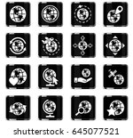 globes web icons for user... | Shutterstock .eps vector #645077521