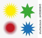 set of stars.promotional... | Shutterstock .eps vector #645080845