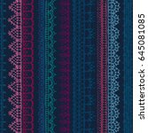 vector seamless pattern of... | Shutterstock .eps vector #645081085