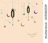 ramadan kareem background... | Shutterstock .eps vector #645082039