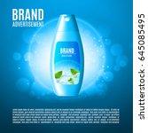 moisturizing shampoo for hair... | Shutterstock .eps vector #645085495