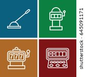 lever icons set. set of 4 lever ... | Shutterstock .eps vector #645091171