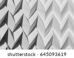 closeup abstract white folded... | Shutterstock . vector #645093619