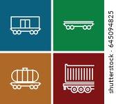 wagon icons set. set of 4 wagon ... | Shutterstock .eps vector #645094825