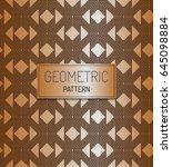 golden  luxury vintage pattern...   Shutterstock .eps vector #645098884