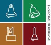 jingle icons set. set of 4... | Shutterstock .eps vector #645099745
