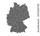 map of germany devided to 13...