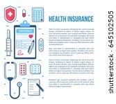 health insurance concept... | Shutterstock .eps vector #645102505