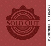 sold out badge with red... | Shutterstock .eps vector #645103939