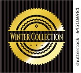 winter collection gold shiny... | Shutterstock .eps vector #645106981