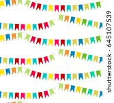 vector carnaval seamless...   Shutterstock .eps vector #645107539