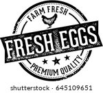 fresh eggs vintage farm sign | Shutterstock .eps vector #645109651