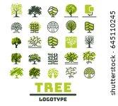 tree outdoor travel green... | Shutterstock .eps vector #645110245
