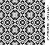 raster monochrome seamless... | Shutterstock . vector #645111214