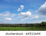 the suspension bridge with... | Shutterstock . vector #64511644