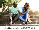 african american friends   Shutterstock . vector #645121549