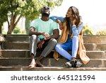 african american friends | Shutterstock . vector #645121594
