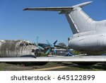 abandoned airplanes in the... | Shutterstock . vector #645122899