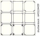 decorative frames | Shutterstock .eps vector #645124459
