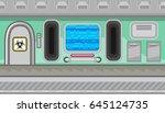 seamless horizontal background... | Shutterstock .eps vector #645124735