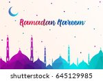 mosque made by colourful... | Shutterstock .eps vector #645129985