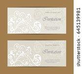 beautiful wedding invitations... | Shutterstock .eps vector #645139981