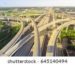 aerial view massive highway... | Shutterstock . vector #645140494