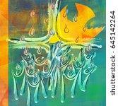 holy spirit  pentecost or... | Shutterstock . vector #645142264