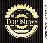 top news gold badge   Shutterstock .eps vector #645145075