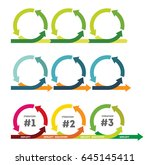 iteration. the concept of life... | Shutterstock .eps vector #645145411