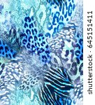 Stock photo cool animal mix print seamless background 645151411