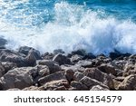 Rocks And Waves On...