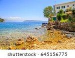 view of a shore in corfu  greece | Shutterstock . vector #645156775