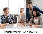 positive nice team of engineers ... | Shutterstock . vector #645157351