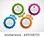 abstract gears infographic.... | Shutterstock .eps vector #645158725